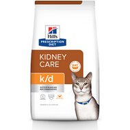 Hill's Prescription Diet k/d Kidney Care with Chicken Dry Cat Food, 4-lb bag