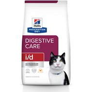 Hill's Prescription Diet i/d Digestive Care Chicken Flavor Dry Cat Food, 4-lb bag
