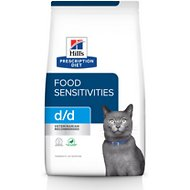 Hill's Prescription Diet d/d Skin/Food Sensitivities Duck & Green Pea Formula Dry Cat Food, 3.5-lb bag