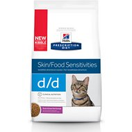 Hill's Prescription Diet d/d Skin/Food Sensitivities Duck & Green Pea Formula Dry Cat Food, 8.5-lb bag