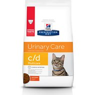 Hill's Prescription Diet c/d Multicare Urinary Care with Chicken Dry Cat Food, 4-lb bag
