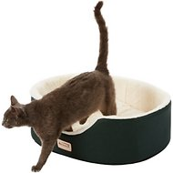 Armarkat Pet Bed Oval, Laurel Green/Ivory