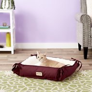 Armarkat Pet Bed & Mat, Burgundy/Ivory