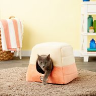 Armarkat Pet Bed Cave Shape, Orange/Beige