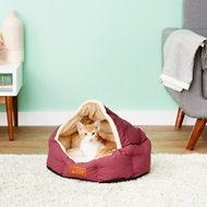 Armarkat Pet Bed, Burgundy/Ivory