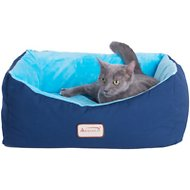 Armarkat Pet Bed, Navy Blue/Sky Blue