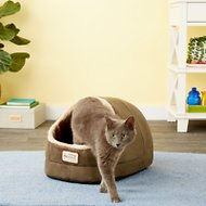 Armarkat Pet Bed Cave Shape, Laurel Green/Beige