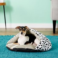 Armarkat Burrow Pet Bed, Sage Green/Pawprint