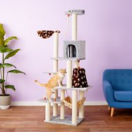 Armarkat 78-in Cat Tree, Silver Gray