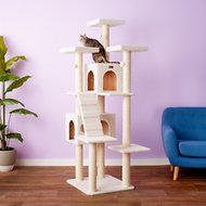 Armarkat 77-in Faux Fleece Cat Tree & Condo