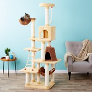 Armarkat Premium 78-in Cat Tree, Goldenrod