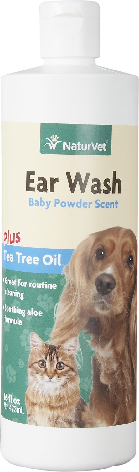 naturvet ear wash with tea tree oil for dogs cats 16 oz bottle. Black Bedroom Furniture Sets. Home Design Ideas