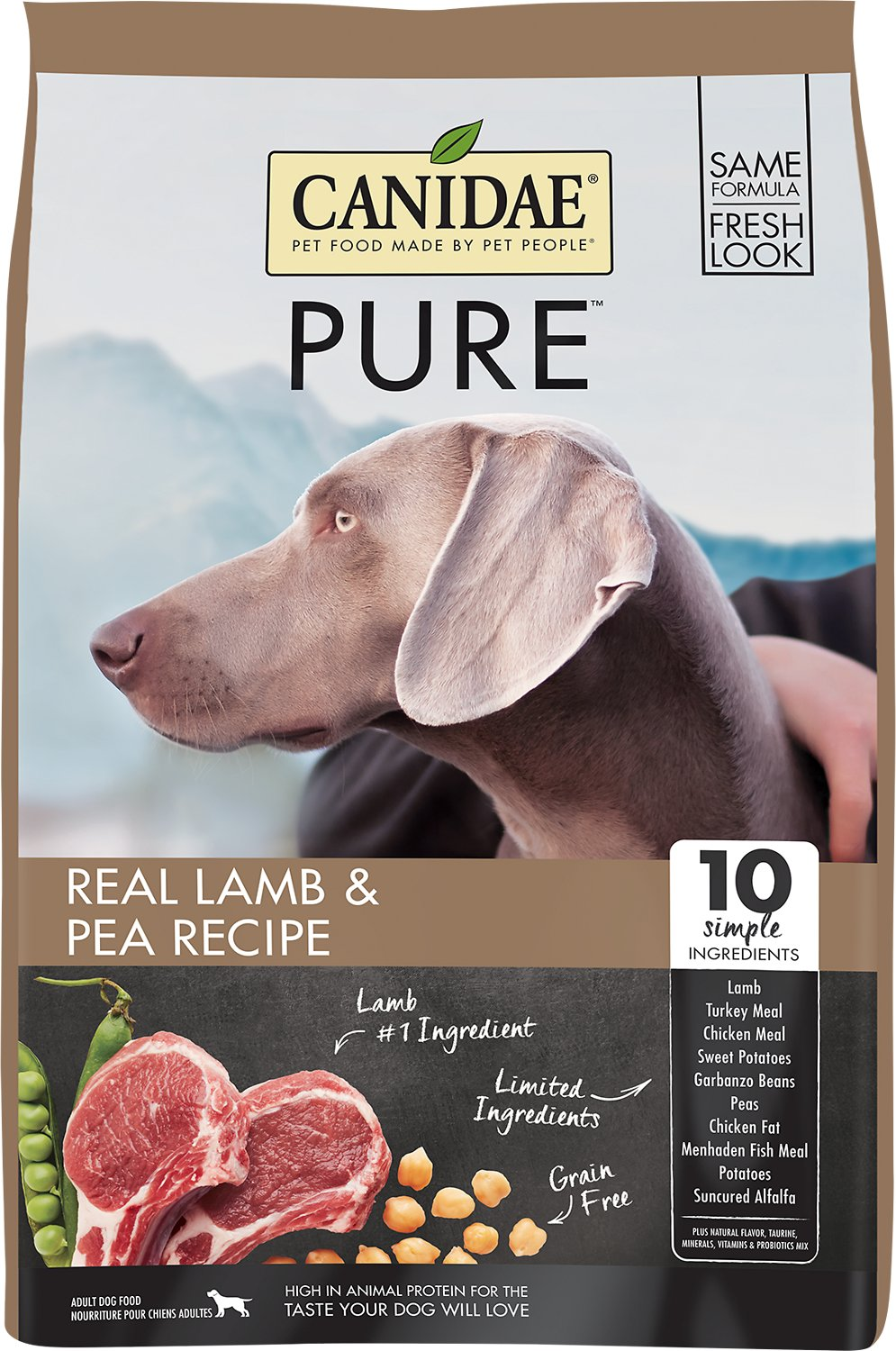 CANIDAE Grain-Free PURE Limited Ingredient Lamb & Pea Recipe Dry Dog Food