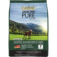 CANIDAE Grain-Free PURE Land with Bison Limited Ingredient Diet Adult Dry Dog Food, 24-lb bag