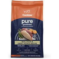 CANIDAE Grain-Free PURE Real Duck & Sweet Potato Recipe Dry Dog Food, 4-lb bag