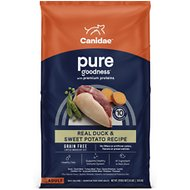 CANIDAE Grain-Free PURE Real Duck & Sweet Potato Recipe Dry Dog Food, 24-lb bag