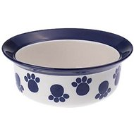 PetRageous Designs Paws n' Around Pet Bowl, Cobalt, 2-cups