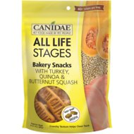 CANIDAE Life Stages Bakery Snacks with Turkey, Quinoa & Butternut Squash Dog Treats, 14-oz bag