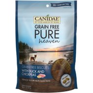 CANIDAE Grain-Free PURE Heaven Biscuits with Duck & Chickpeas Crunchy Dog Treats, 11-oz bag