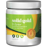 Solid Gold Supplements D-Zyme Healthy Digestion Powder Dog & Cat Supplement, 6-oz jar