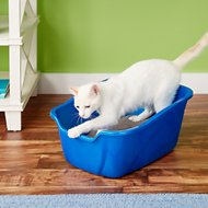 Van Ness High Sides Cat Litter Pan, Blue, Large