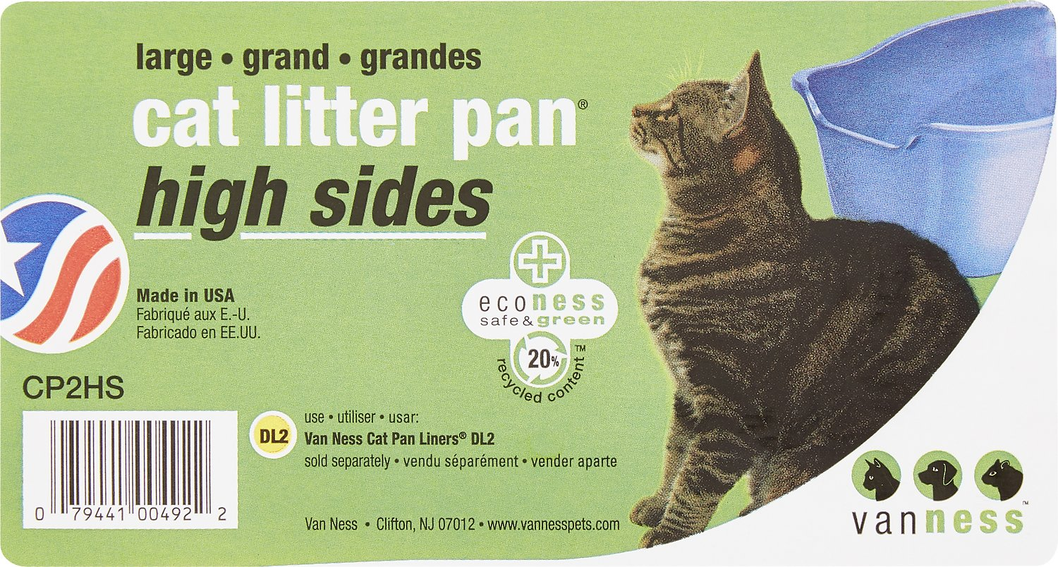 Assorted Colors Van Ness CP2HS Large High Sides Cat Litter Pan