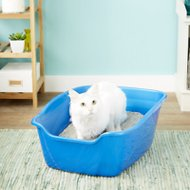Van Ness High Sides Cat Litter Pan, Blue, Giant
