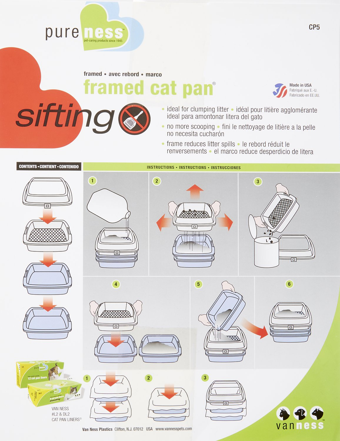 Van Ness Sifting Cat Litter Pan with Frame