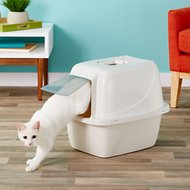 Van Ness Enclosed Cat Litter Pan, Large White