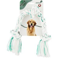 Booda Fresh N Floss Spearmint 3-Knot Tug Rope Dog Toy, Large