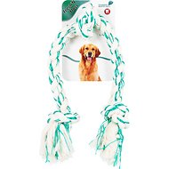 Booda Fresh N Floss Spearmint 3-Knot Tug Rope Dog Toy, X-Large