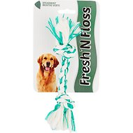 Booda Fresh N Floss Spearmint 2-Knot Rope Bone Dog Toy, X-Small