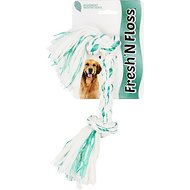Booda Fresh N Floss Spearmint 2-Knot Rope Bone Dog Toy, Small