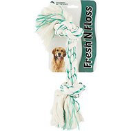 Booda Fresh N Floss Spearmint 2-Knot Rope Bone Dog Toy, X-Large