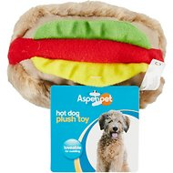 Booda Soft Bite Medium Hot Dog Plush Dog Toy