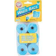 Arm & Hammer Disposable Waste Bag Refills, Blue, 90 count
