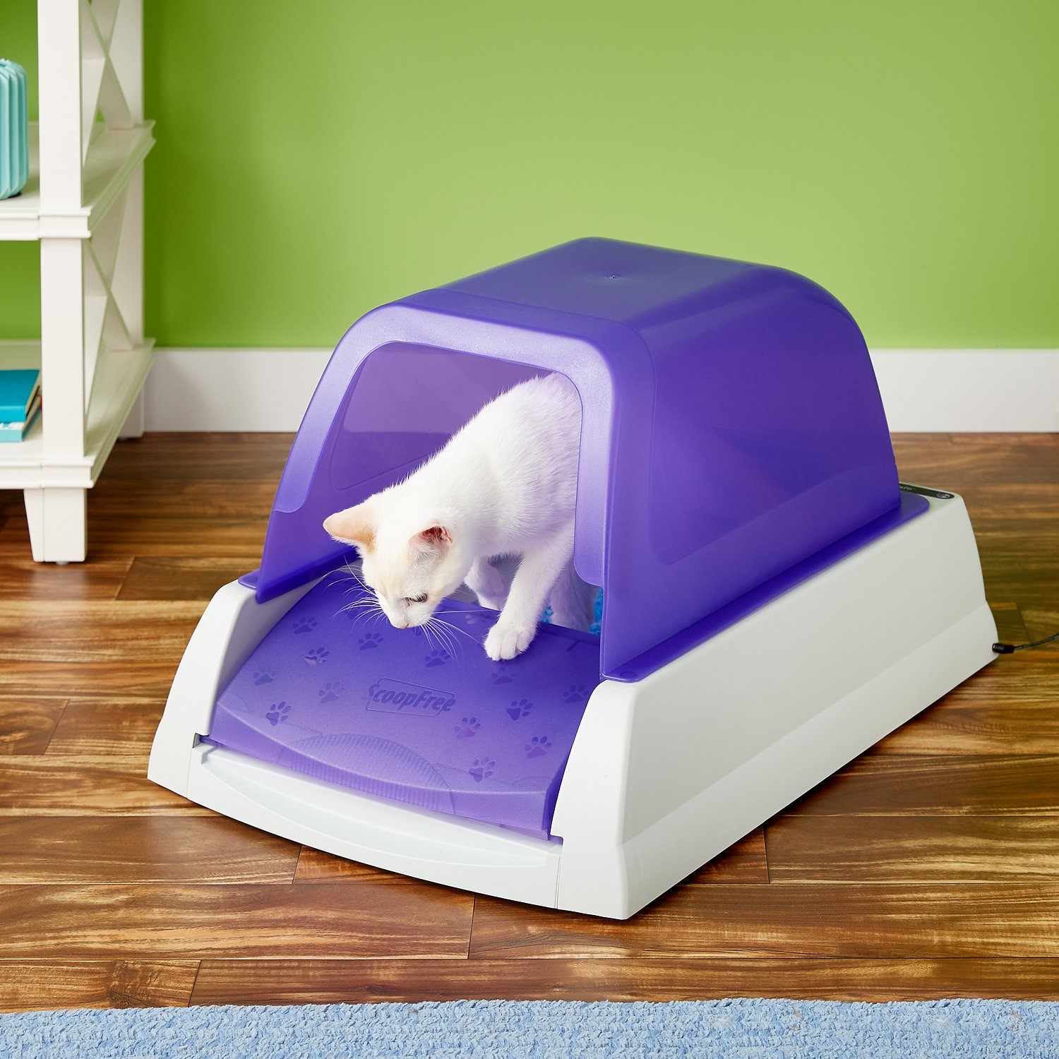 ScoopFree Self Cleaning Cat Litter Box Privacy Hood Purple Chewy