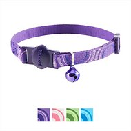 Petmate 8-12-inch Eco Friendly Breakaway Adjustable Circle Cat Collar, Purple