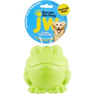 JW Pet Darwin the Frog Squeaky Dog Toy, Color Varies, Large