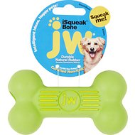 JW Pet iSqueak Bone Dog Toy, Color Varies, Small