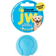 JW Pet iSqueak Bouncin' Baseball Dog Toy, Color Varies, Small