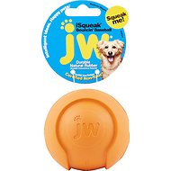 JW Pet iSqueak Bouncin' Baseball Dog Toy, Color Varies, Medium