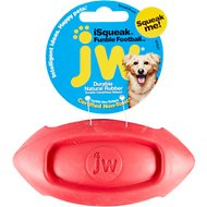 JW Pet iSqueak Funble Football Dog Toy, Color Varies, Small