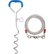 Aspen Pet Easyturn Stake with 20-Feet of Tie-out Cable, Large, 18-inch