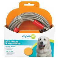 Aspen Pet Medium Tie-Out Cable, 30-ft