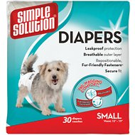 Simple Solution 30 Disposable Diapers, Small