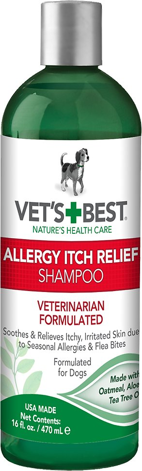 Vet S Best Allergy Itch Relief Shampoo For Dogs 16 Oz Bottle