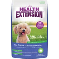 Health Extension Little Bites Lite Chicken & Brown Rice Recipe Dry Dog Food, 4-lb bag