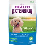 Health Extension Little Bites Chicken & Brown Rice Recipe Dry Dog Food, 18-lb bag
