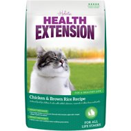 Health Extension Chicken & Brown Rice Recipe Dry Cat Food, 4-lb bag
